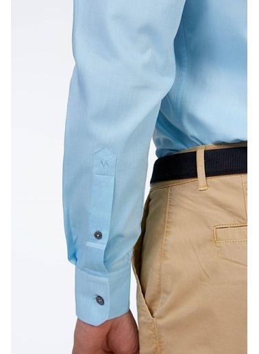Hemington Uzun Kollu Klasik Gömlek Turkuaz